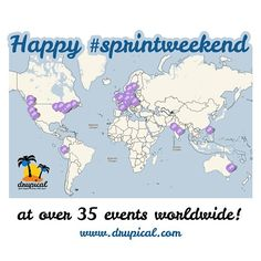 at 9.-10. march 2013 there were over 35 #sprintweekend events all over the world! = Drupal WIN!