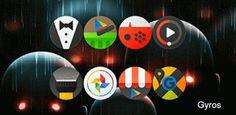 Gyros Icons v1.0.3  Jueves 8 de Octubre 2015.By : Yomar Gonzalez ( Androidfast )   Gyros Icons v1.0.3 Requisitos: 4.0 Descripción: Hermosa pack de iconos redonda con un efecto buttonish tinte. Crujiente icono de la paleta de colores de vuelta con glifo oscuro. Cada icono solo aparece en la pantalla CARACTERÍSTICAS  1300  iconos personalizados 6 iconos de calendario dinámicos icono atrás icono de la máscara  Compatible con Multi Launcher  XXXHDPI Icono 256 px  Gráficos vectoriales Cada Iconos…