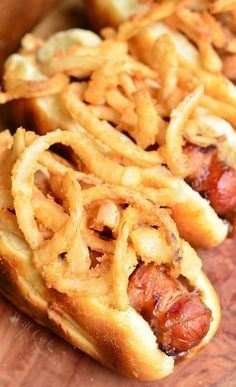 BBQ Bacon & Crispy Onion Hot Dogs