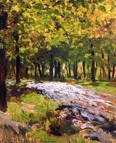 isaac ilich levitan, path in the forest, 1885