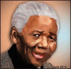 Nelson Mandella Famous People, Digital Art, Photoshop, Celebrities, Celebs