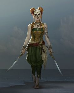 Eidy - Dark Merchant by Sam Hogg : Fantasy Fantasy Character Design, Character Creation, Character Design Inspiration, Character Art, Female Character Concept, Fantasy Rpg, Medieval Fantasy, Dark Fantasy, Dnd Characters