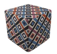 Nothing says spring like this colorful pattern! Momeni Chainstitch Multi Ottoman - Home Brands USA