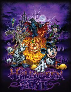 New Halloween Merchandise Arrives at Disney Parks - Trend Parks Disney 2020 Halloween Kunst, Halloween Artwork, Halloween Wallpaper, Halloween Pictures, Scary Halloween, Garfield Halloween, Gothic Halloween, Disney Kunst, Disney Art