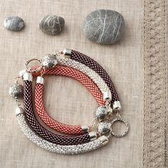 Купить Три цвета настроения - колье на выбор - бисер, бисерное украшение, бисерное колье