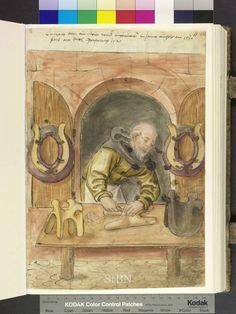 Medieval Saddle Maker, German 1520
