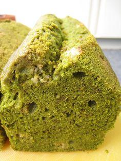 Matcha Pound Cake Mit Weißer Schokolade cakepins.com