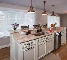 Small kitchen remodel ideas ideas for remodeling the kitchen,modular kitchen showroom kitchen cabinets wholesale,farmhouse kitchen decor grey country kitchen cabinets. Kitchen Island With Sink And Dishwasher, Farmhouse Kitchen Island, Kitchen Island Decor, Modern Kitchen Island, Kitchen Island With Seating, New Kitchen, Kitchen Islands, Kitchen Ideas, Island Sinks