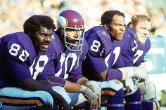 """""""Purple People Eaters"""" - Alan Page, Jim Marshall, Carl Eller, and Gary Larsen - Minnesota Vikings"""