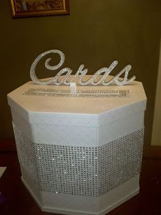 CUSTOM JOB for Tiffany S. - Card Box for Wedding