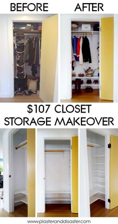 A complete closet makeover for $107! – Plaster & Disaster
