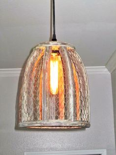 Chicken Wire Farmhouse Large Pendant Light | Wire pendant, Chicken ...