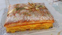 Feta, Portuguese Recipes, Portuguese Food, Sweet Recipes, Sandwiches, Deserts, Bread, Creme Custard, Banana Oats