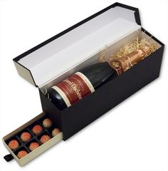 This box can be install wine and chocolate.     Wine Packaging