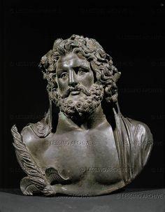Zeus. Bronze bust after a Greek original of the 4th BCE. Height 17.5 cm Inv. VI 288   Kunsthistorisches Museum, Antikensammlung, Vienna, Austria