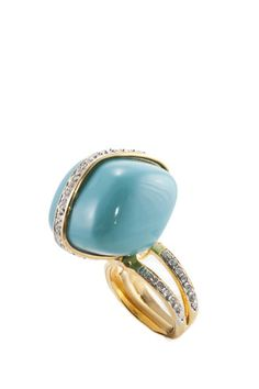 Turquoise Nugget Ring by KENNETH JAY LANE.