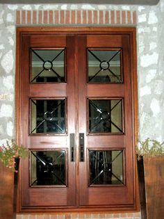 Three Panel Wrought Iron Double X-Shaped Doors