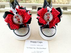 MINNIE SHOES BLINGED Converse  Minnie Birthday  by HappyCaps2014