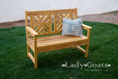 Free plans to build a woven back bench
