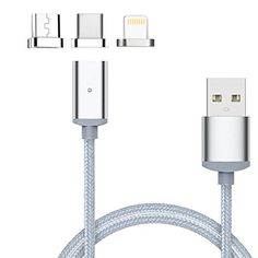 From 13.95 Lively Life Magnetic Usb Charging Cable With Micro Usb Usb Type Clightning Connectors Nylon Braided Charger Adapter Cablefast Charge And Lightning Data Sync With Led Indicator Compatible For Iphoneipad Air/miniipodmacbook Air/prosamsung Galaxy lg sony Xperiagoogle Pixelhuawei htc oneplus Motorola Motomp3 Players Gps Camera Most Apple Android Windows Smartphones And More(3.3ft/1m gray)