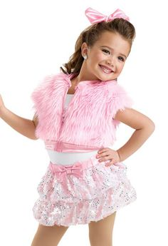 Girls' Fur Vest and Bubble Skirt; Pop Star Costumes, Dance Costumes Kids, Hip Hop Costumes, Outfits Niños, Hip Hop Outfits, Dance Outfits, Girls Fur Vest, Step Up Dance, Little Girl Dancing