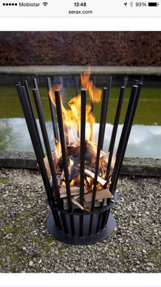 Luc Vincent Bois De Ronde Fireplaces - Firebasket Dimension: ∅ 58 x H 80 cm Fire Walk with Me Fire Basket Rack for Wood Small Dimension: W 90 x D 24 H 100 cm Rack for Wood Large Dimension: W 90 x D 24 H 190 cm Grill Outdoor, Outdoor Fire, Metal Fire Pit, Diy Fire Pit, Metal Projects, Welding Projects, Fire Pit Grill, Fire Pits, Parrilla Exterior
