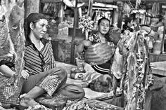 Babysitting at the butcher shop New Central Market - Phsar Thmey Phnom Penh Cambodia