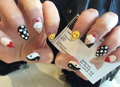 Random stiletto nails