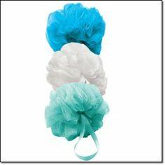 Three Pouf Set by Avon. $3.99. Set of 3 shower poufs. 3 shower poufs