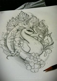 I just LOVE how this sketch makes the masculine confidence of the male peacock look SOOOOO BEAUTIFUL and even FEMININE with the flowers! It's such a GLORIOUSLY CONTRADICTING combination! LOL I just see GOD- the ULTIMATE divine paradox. <3 <3 <3