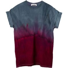 Red Dip Dye Ombre T-Shirt, Grey Dip Dye Ombre T-Shirt, Red Ombre... (83 BRL) ❤ liked on Polyvore featuring tops, t-shirts, shirts, tee-shirt, gray t shirt, tye dye shirts, tie dye t shirts and tie dyed shirts