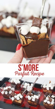 This S'more Parfait Recipe makes up a yummy treat. These are easy to throw together but look amazing! Parfait Desserts, Parfait Recipes, Köstliche Desserts, Delicious Desserts, Dessert Recipes, Yummy Food, Plated Desserts, Easy Desserts For Kids, Healthy Desserts