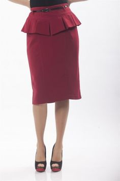 Fusta rosie cu peplum Peplum Dress, London, Collection, Dresses, Fashion, Skirts, Vestidos, Moda, Fashion Styles