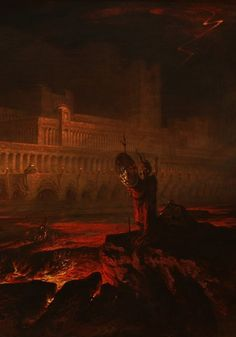 """Pandemonium - Satan's royal palace he has constructed for himself in Hell, where he summons all his demons together for council on how to get revenge on God. """"Pandemonium"""" literally means """"all demons""""."""