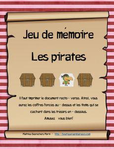 Jeu de mémoire de pirates
