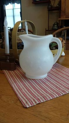 Vintage 1984 white, 2quart smiling Koolaid pitcher. by YesterdaysPieces on Etsy