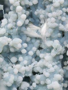 Mordenite on Blue Chalcedony | Maharashtra, India