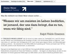 Dieter Meier - #XING Profil - Konzept und Text