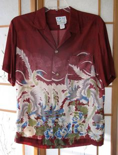 RARE Beauty~Vintage Aloha Shirt Mens Rayon Hawaiian XL  by funkyecofashion, $250.00