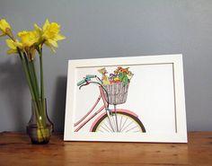 Bicycle Basket Art Print