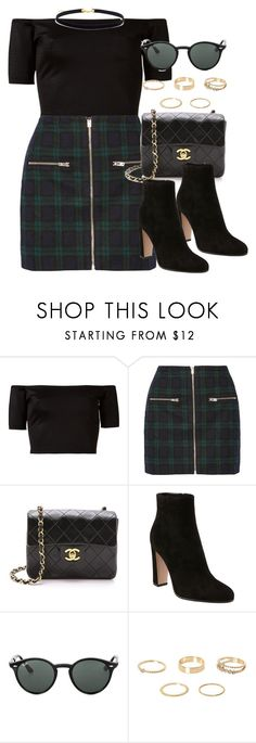 """""""Style #10178"""" by vany-alvarado ❤ liked on Polyvore featuring Skinbiquini, Madewell, Gianvito Rossi, Ray-Ban and River Island"""