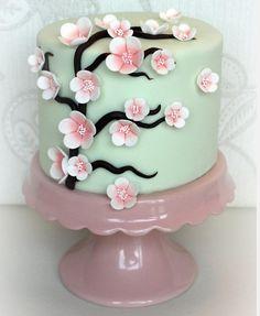Cherry Blossom cake. Gorgeous. Someone wanna make this for my birthday? Lol