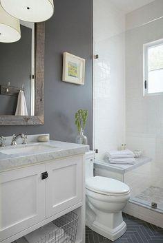 8 Easy And Cheap Useful Ideas: Bathroom Remodel Traditional half bathroom remodel modern farmhouse.Old Bathroom Remodel Tutorials. Modern Bathroom, Master Bathroom, Small Bathrooms, Small Master Bath, Peach Bathroom, Bathroom Scales, Turquoise Bathroom, Bamboo Bathroom, Gold Bathroom
