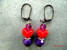 iHeart Valentines Earrings  Love Yourself Earrings  by CMHandymade