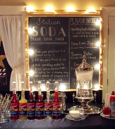 The Italian Soda bar was a favorite with the guests and easy to set up.