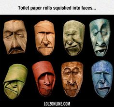 Toilet Paper Rolls Squished Into Faces...#funny #lol #lolzonline