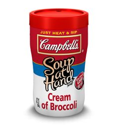 Sippy cups for adults!  Microwave you Campbells soup, put the lid on and drink it on the run.