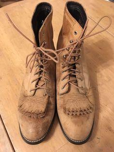 45540ba6561 Lacer Packer Brown Tan Kiltie Heritage Western Ariat Womens 7.5 B M Cowboy  Boots  Ariat