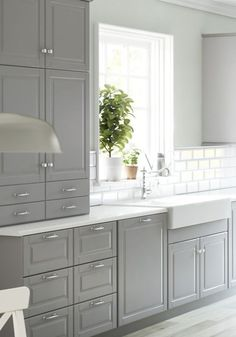 IKEA SEKTION New Kitchen Cabinet Guide: Photos, Prices, Sizes and More! The reason I pinned this because I wonder if the cabinets in the basement could be painted a grey color