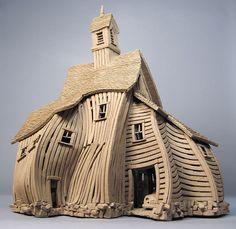 Vertigo Barn - Buildings - Gallery - John Brickels, Architectural Sculpture and Claymobiles, Essex Jct, Vermont